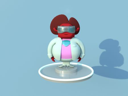 2D to 3D - Scientist Character Design