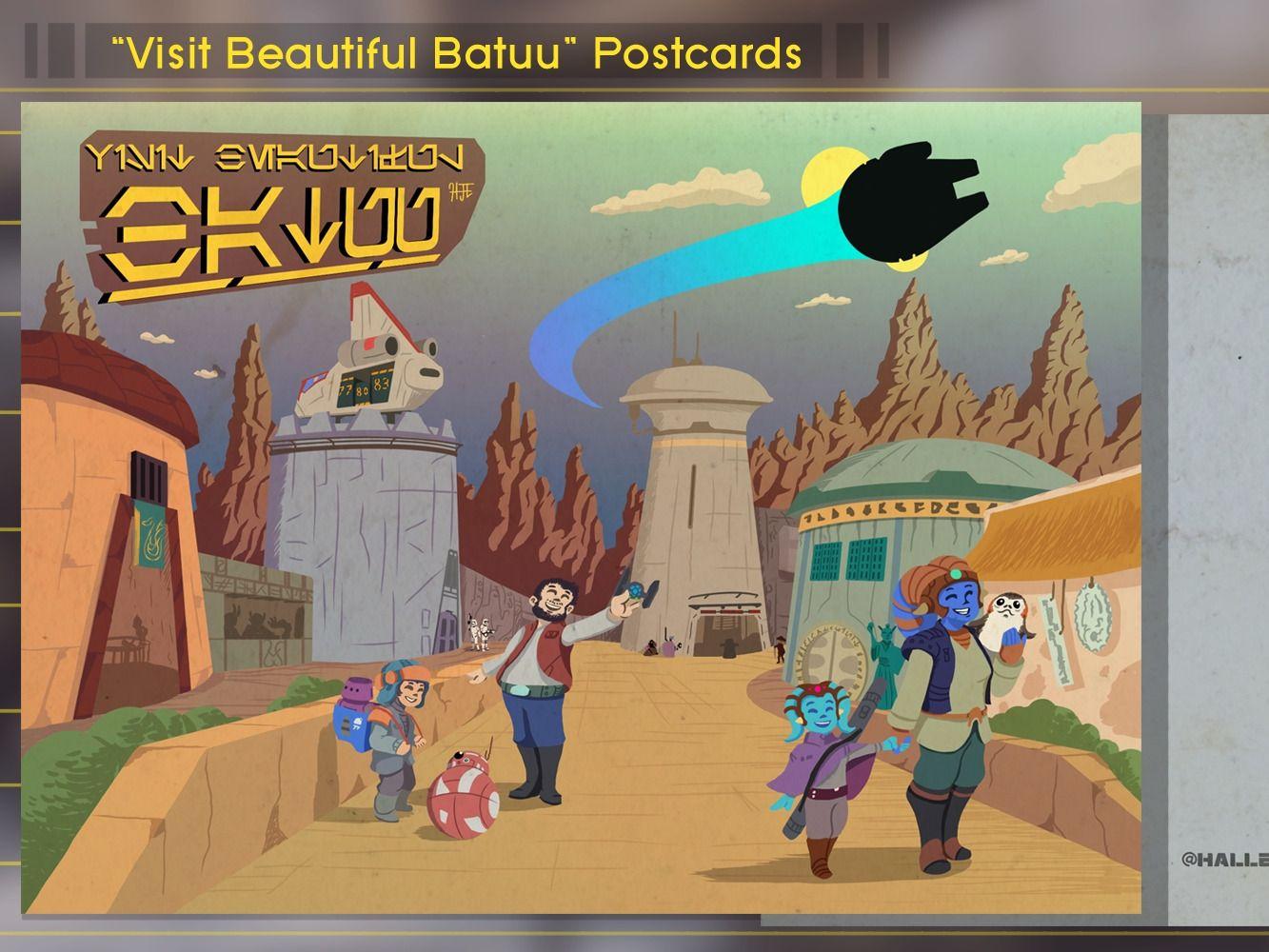 """Visit Beautiful Batuu"" Postcards"