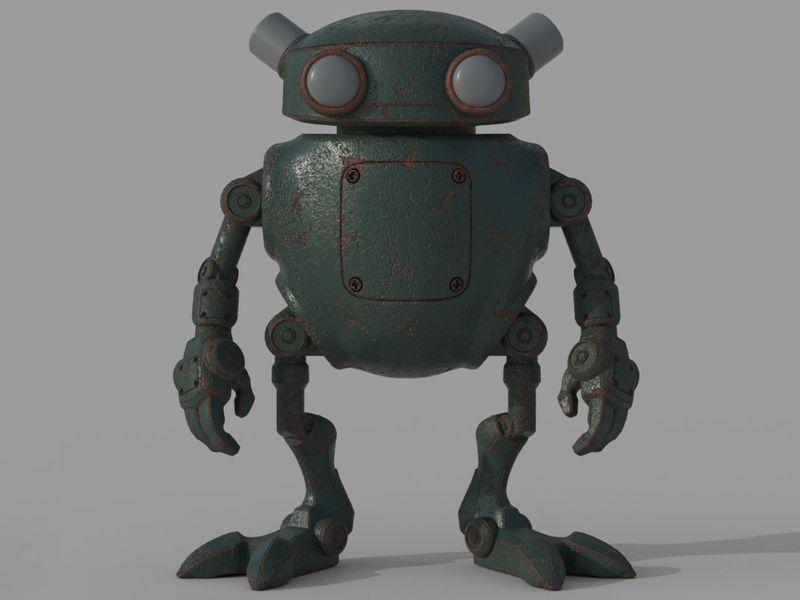 Eddie the little repair robot