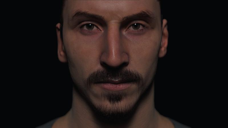 3D portrait of Zlatan Ibrahimovic