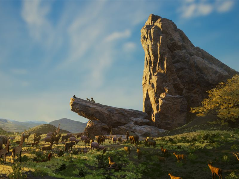 Recreating 'Pride Rock' : From the Lion King 2019