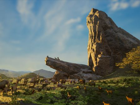 Recreating 'Pride Rock' : The Lion King 2019