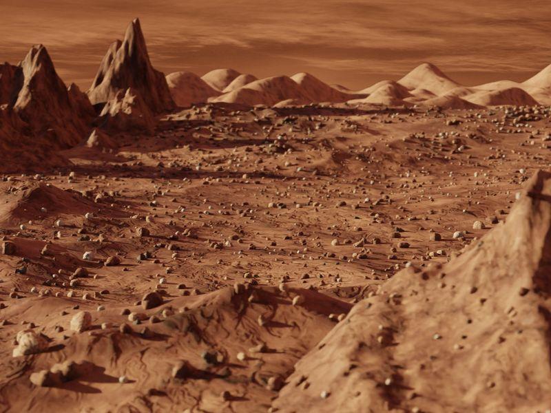 Mars Barren Landscape