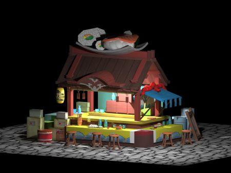 SUSHI MODELADO 3D