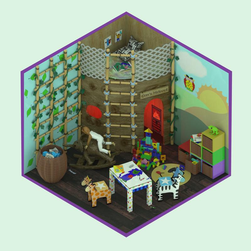 Isometric Child's Room