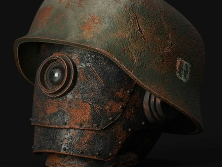 WW2 German robot head