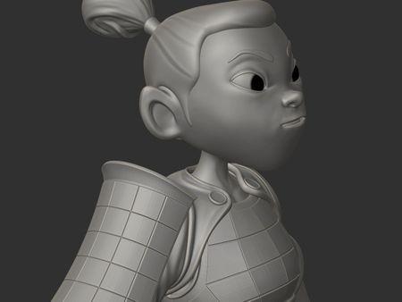 Samurai Girl - WIP