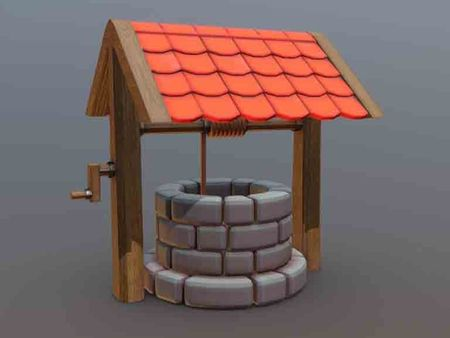 Stylized Medieval Well