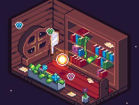 Isometric pixelart room