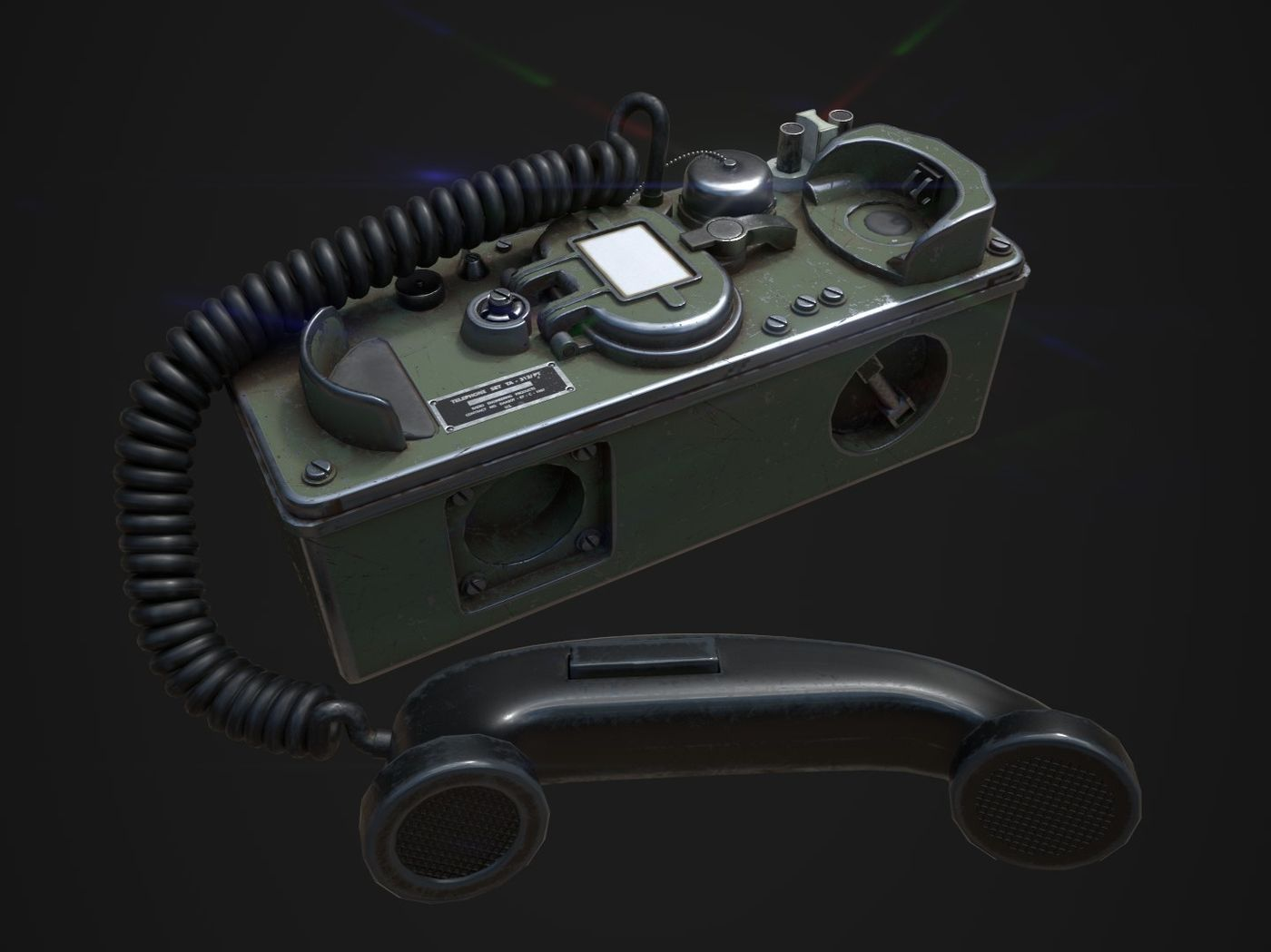 Low Poly Military Phone