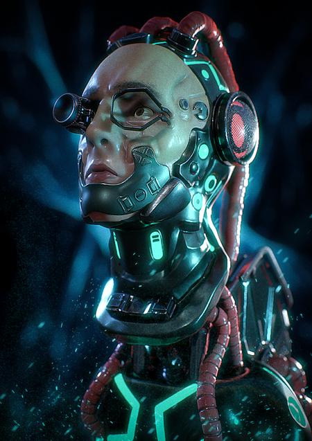 Cyberpunk Head