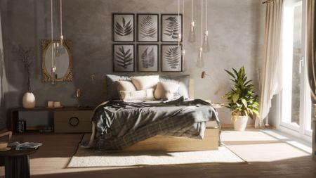 Bedroom Archviz scene