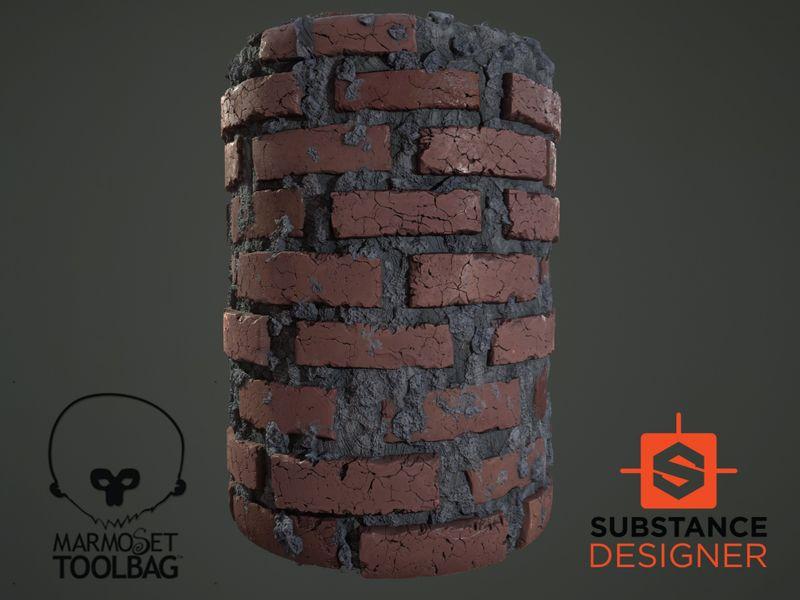 PBR Procedural Brick Generator
