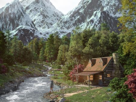 Cabin By The River