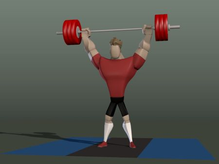 Weightlifting animation