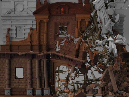 16th Century Building Destruction