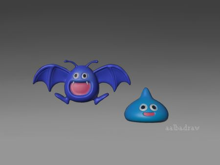 Dragon Quest 3D monsters