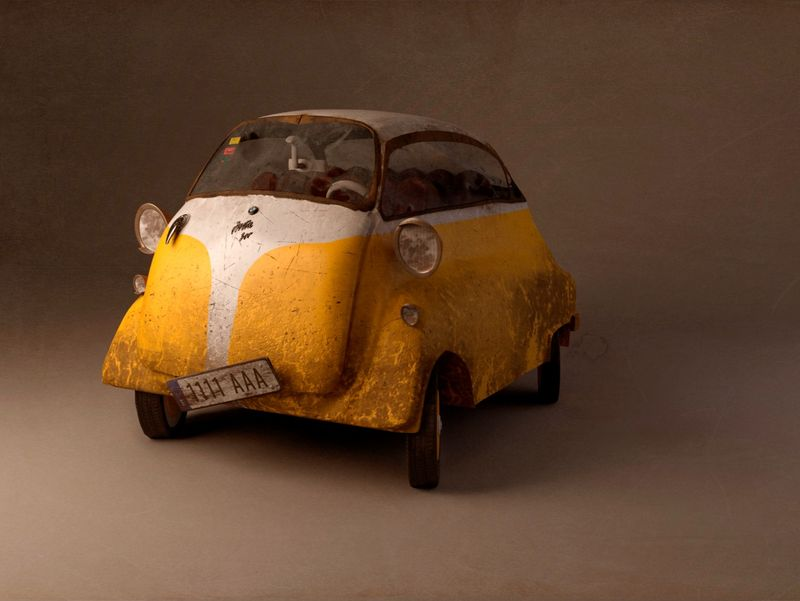 BMW Isetta 300 Stylized 3D Model