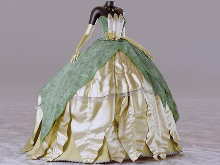 Tiana's gown fan art - a study