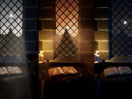 Knight Scholar Desk Scene and Other Fantasy Props