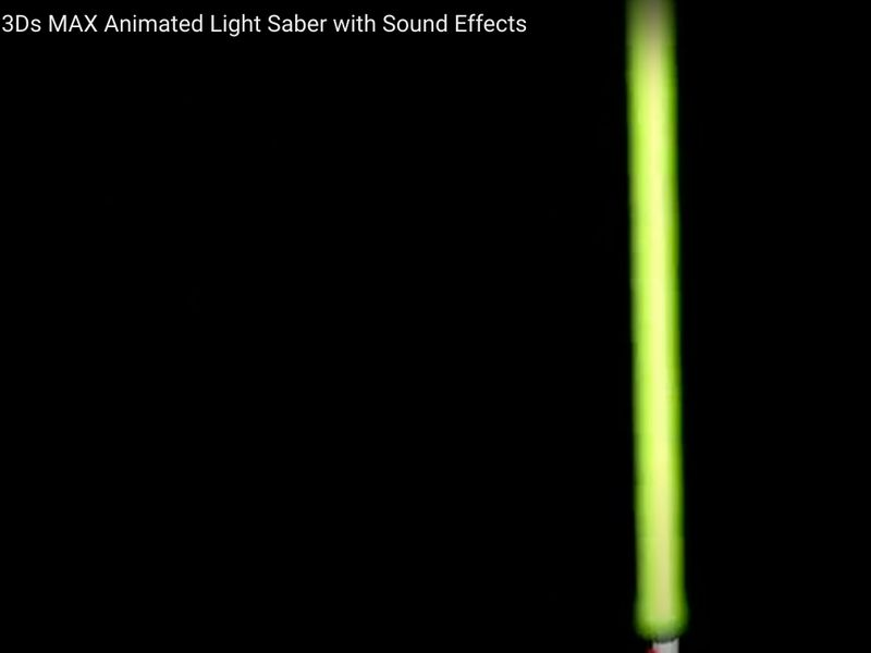 3D Animated Lightsaber