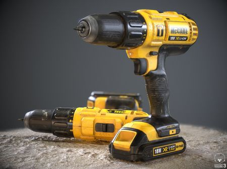 Weathered Cordless Drill