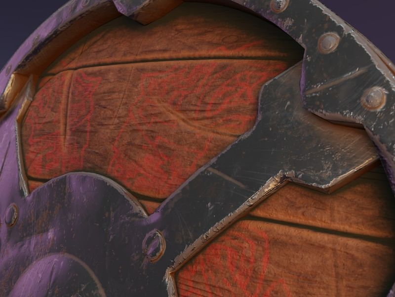 Thick viking shield