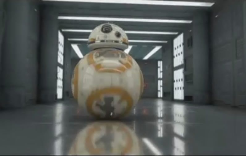 BB8 Star Wars Scene