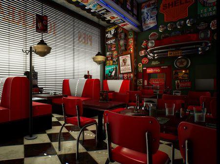 American Retro Diner Environment - UE4