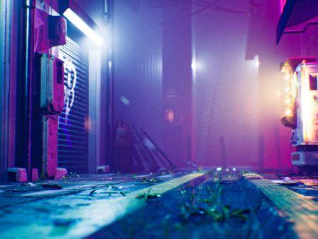 Cyberpunk Alleyway Unreal Environment