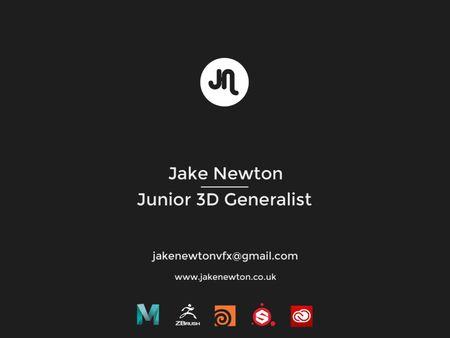 Jake Newton - Junior 3D Generalist Showreel