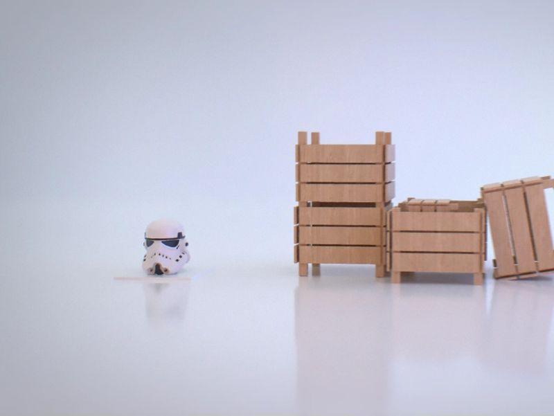 Storm Trooper Helmet vs Crates