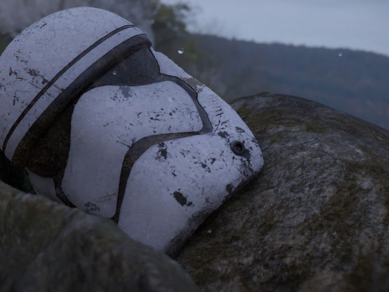 Battle Worn Storm Trooper Helmet