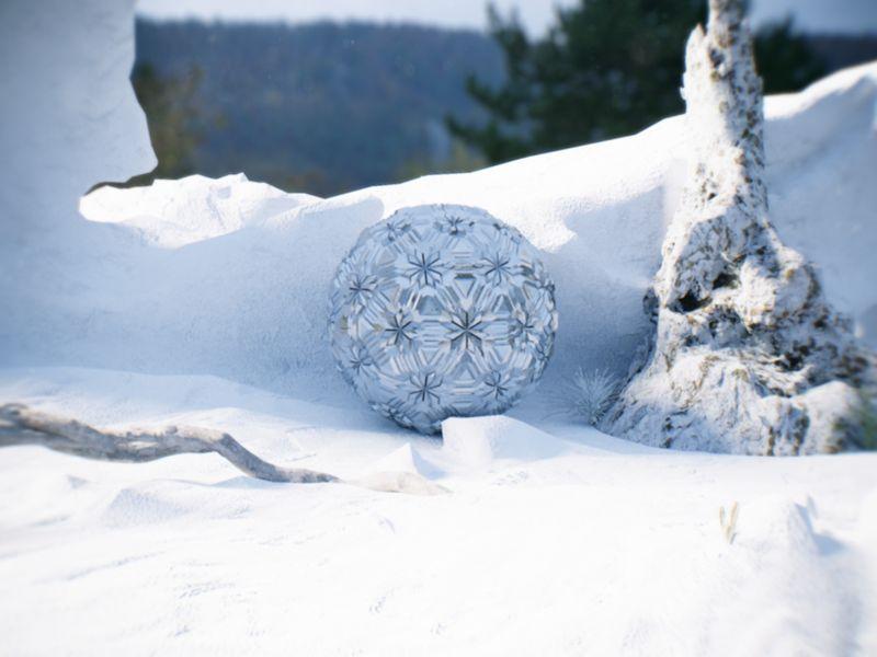 Alien Ball in the snow