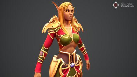 Warcraft Elf Mage