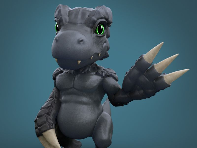 Dark Agumon 3D Sculpt