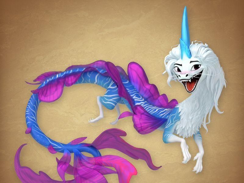 Sisu The Dragon | Raya and the Last Dragon, 2021 [3D Sculpt)