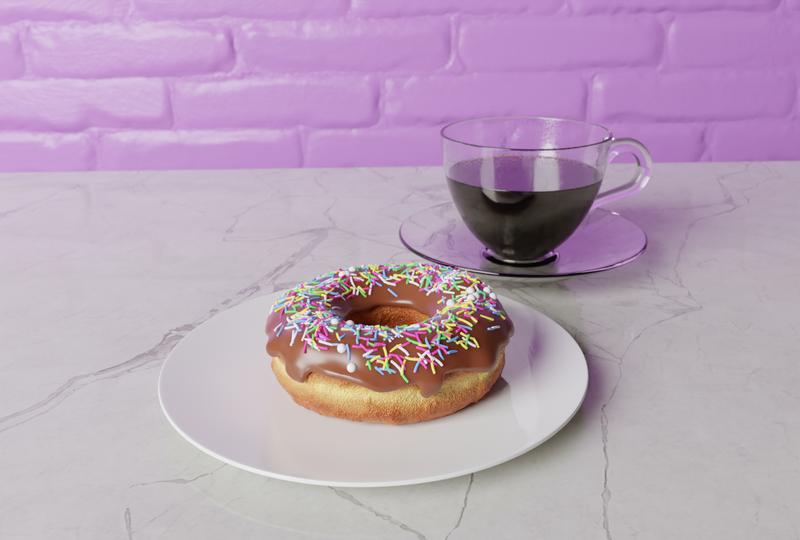 Blender Guru Tutorial Donut Render