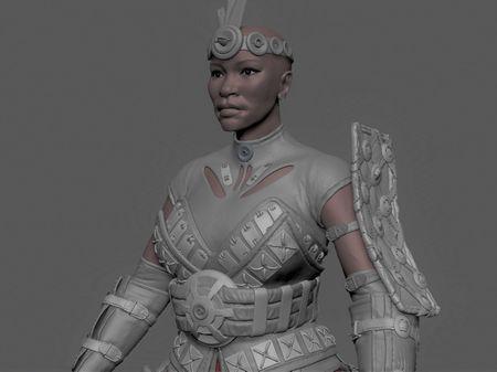 A female warrior inspired by Horizon Zero Dawn