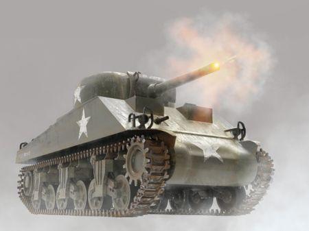 American WW2 M4 Sherman