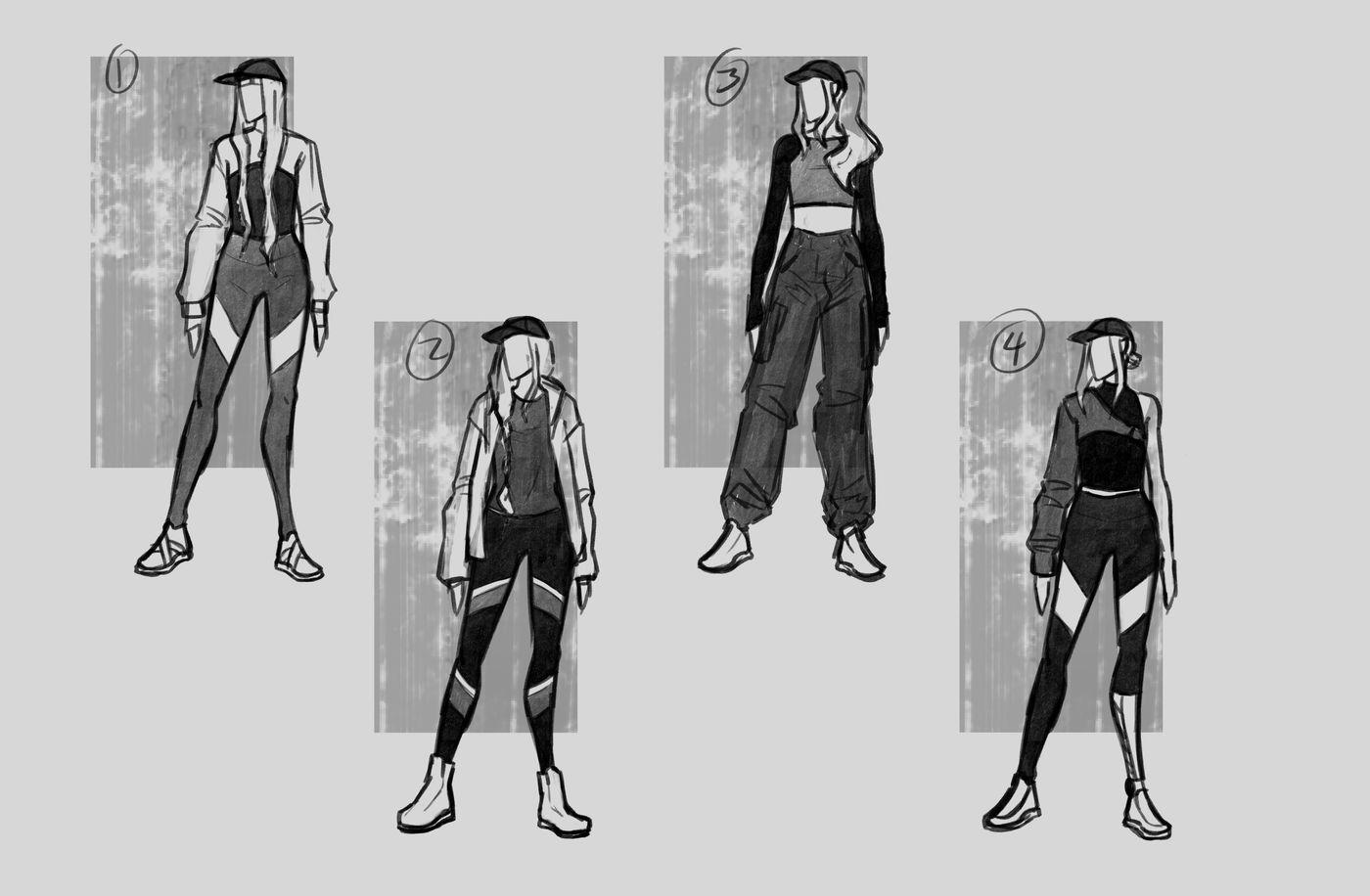 Steer Jasmine %20 Scme3420 Rookies %20 Character Design Thumbnails01 Jasminesteer