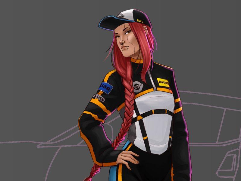 Cyberpunk Street Racer