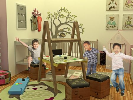 Chulad : Multi-functional kids table and chair furniture set