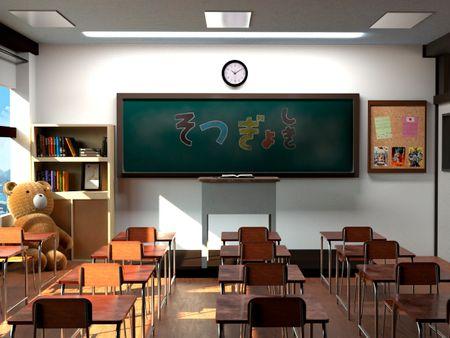 3D ANIME SCHOOL CLASSROOM