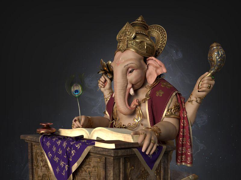 GOD GANESH CG Artwork by Jayesh Naik