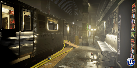 UE4 - Real-Time Abandoned Subway