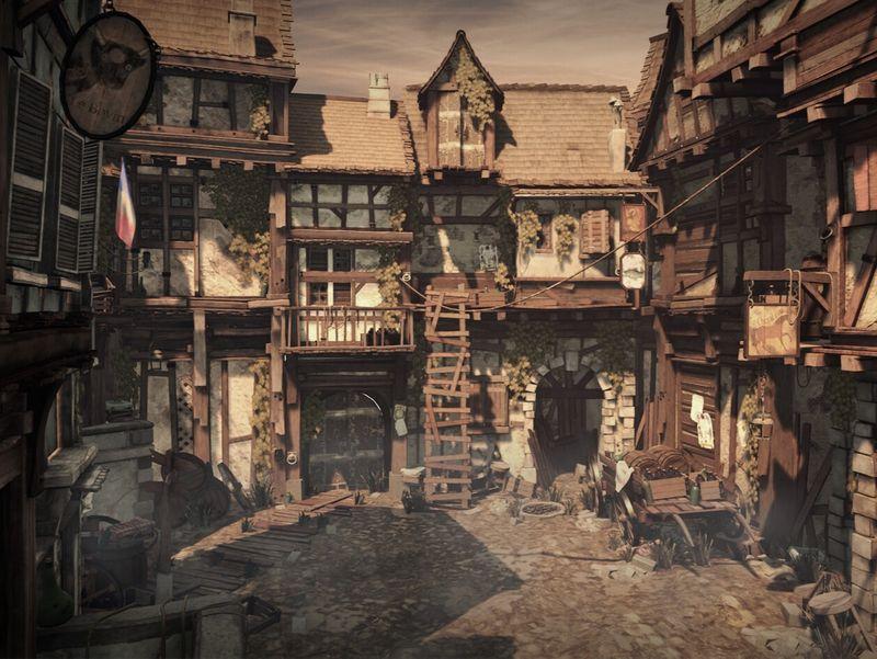 Paris slum street - French Revolution