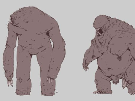 Troll and Ogre Sketches