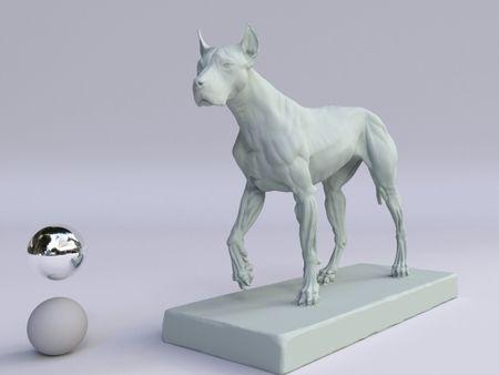 PhotoScan of a figurine : Canine ecorche by Gael Kerchenbaum