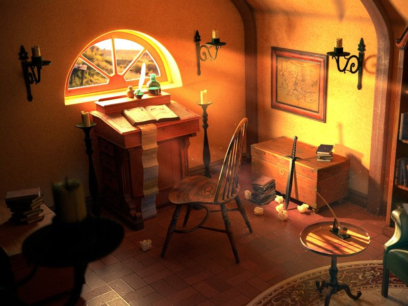 Bilbo Baggins desk